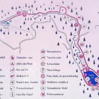 Plan für die Wanderung